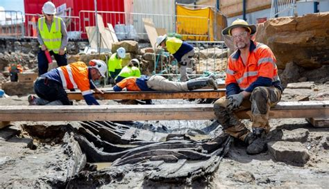 old boat found in sydney historic 180 year old boat uncovered at barangaroo