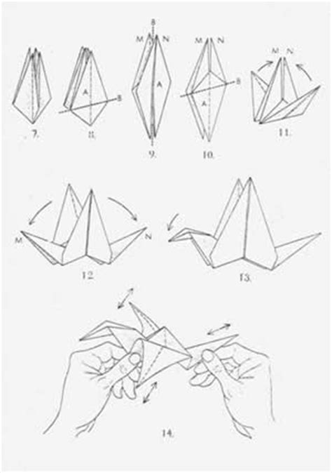 tutorial origami uccellino progetto polymath matematica e origami