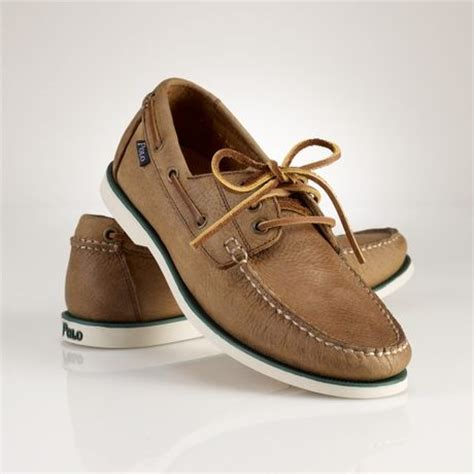 polo bienne boat shoe tan polo ralph lauren bienne boat shoe in brown for men tan
