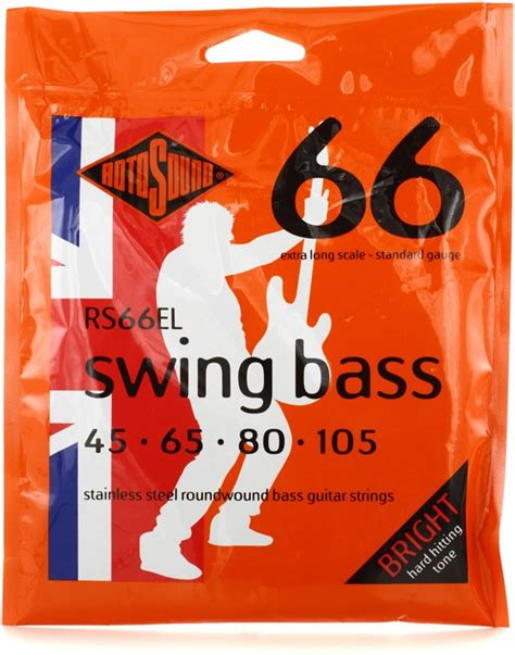 swing bass 66 rotosound rs66el swing bass 66 stainless steel roundwound