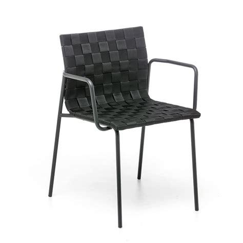 sedie intrecciate sedia per esterno con braccioli scocca intrecciata con