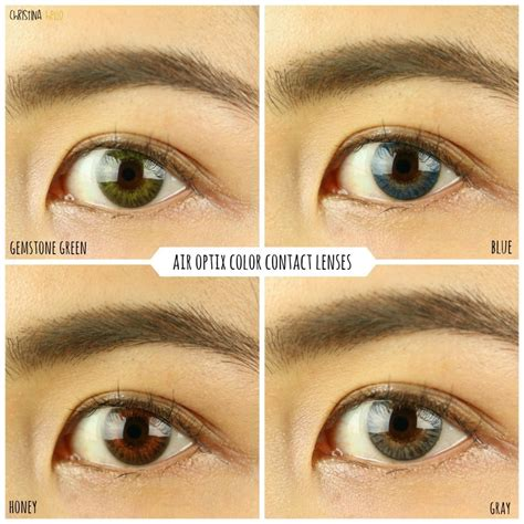 acuvue contacts color colored contacts impressions air optix freshlooks