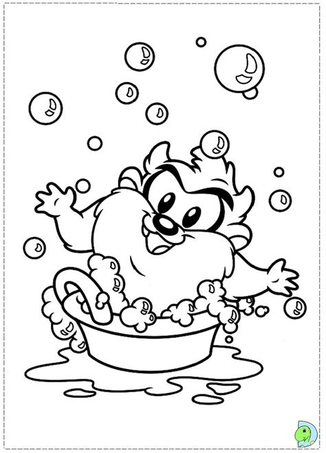 baby looney tunes coloring page dinokids org