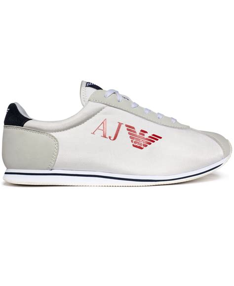 armani sneakers mens armani eagle sneakers in white for lyst