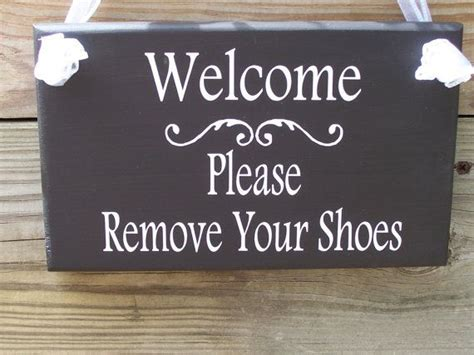 removing shoes before entering house welcome please remove your shoes wood vinyl sign home decor door hanger puja room