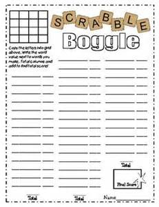free download scrabble boggle worksheet they have