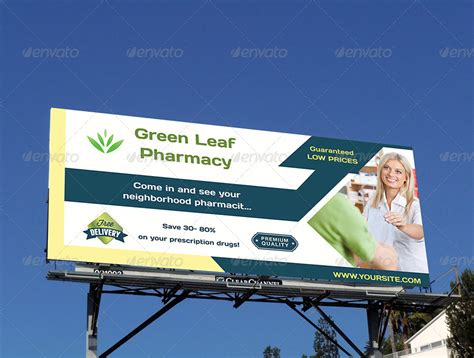 pharmacy billboard template by owpictures graphicriver