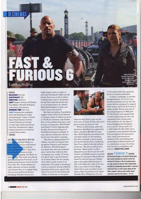 a2 media coursework lana anscomb layout features of a film review analysis empire fast and furious 6
