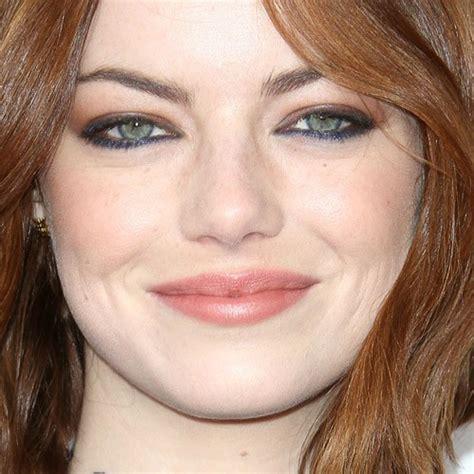 emma stone lipstick emma stone makeup blue eyeshadow brown eyeshadow peach