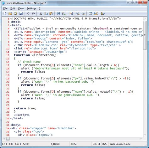 cara membuat website dengan html notepad html notepad website phpsourcecode net