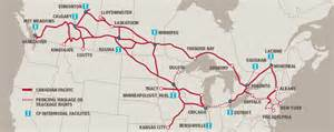 canada rail network map transport intermodal