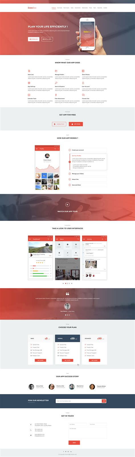 mobile landing page templates datobox mobile app landing page template by ghssalem