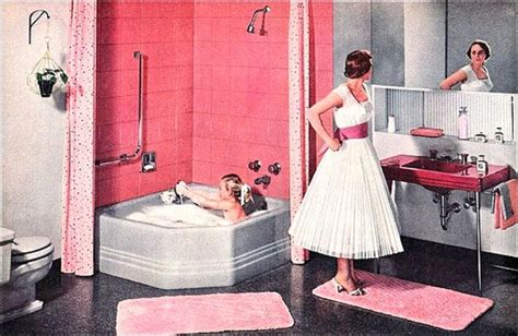 50 s bathroom decor farm girl pink pink bathrooms the vintage years