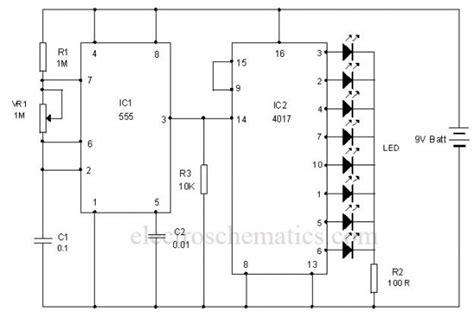 led chaser circuit