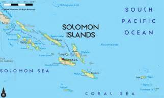 islands map road map of solomon islands and solomon islands road maps