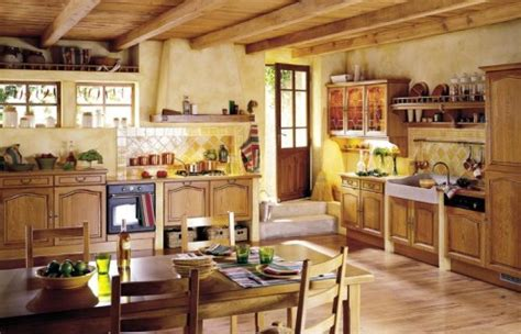 home and garden kitchen interior decorating painting wiejska kuchnia w stylu francuskim