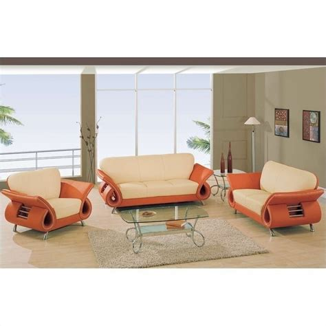 burnt orange sofa living room global furniture usa charles leather living room set