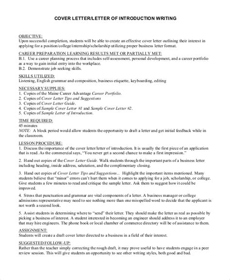 cover letter introduction exles sle cover letter introduction 8 exles in pdf