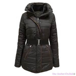puffer quilted padded belted winter warm parka