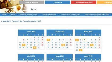Plazos Para La Declaracin De La Renta 2015 2016 | calendario de la renta 2015 c 243 mo hacer la declaraci 243 n