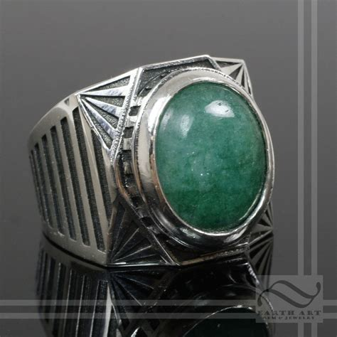 buy a crafted s emerald signet ring deco
