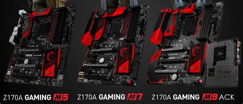 Motherboard Msi Z170a Gaming M7 Lga1151 Z170a Ddr4 msi z170 gaming m series motherboards pictured techpowerup