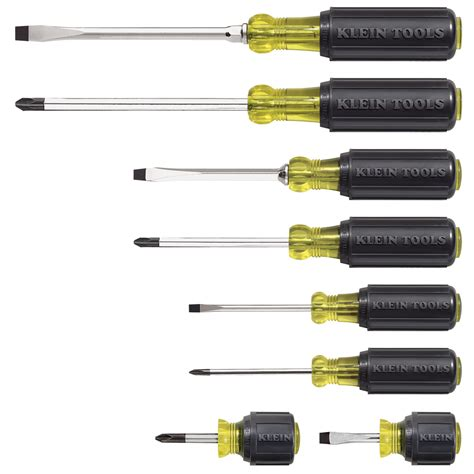 Saapni.com. Klein Tools 8 Piece Cushion Grip Screwdriver