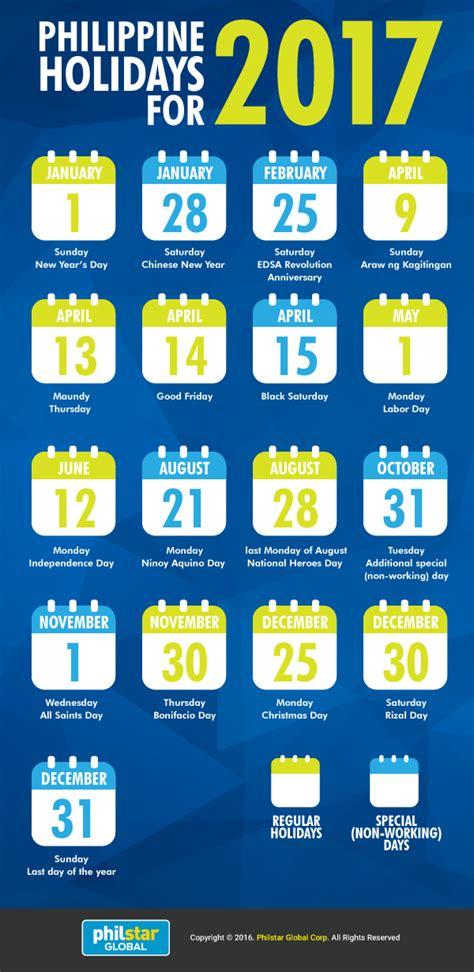 infographic philippine holidays   philstarcom