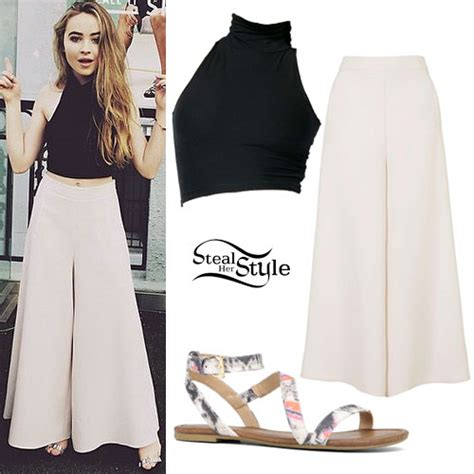 Black Sabrina Top sabrina carpenter crop top palazzo style