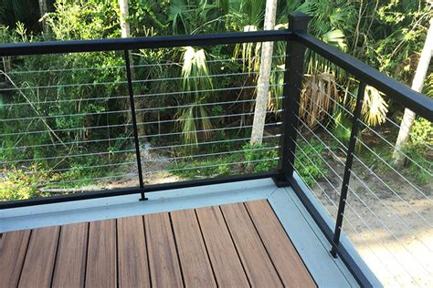 cable banister nova ii cable railing cable railing with aluminum posts