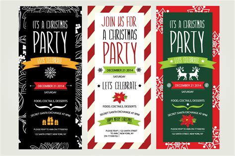 3 christmas invitations invitation templates on creative