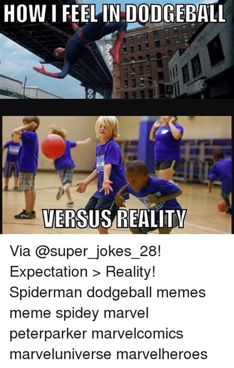 Dodgeball Memes - how i feelin dodgeball versus reality via expectation