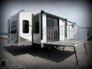 Electric Awnings For Rvs 2012 Open Range 345rls With Patio Deck Used Fifth Wheel