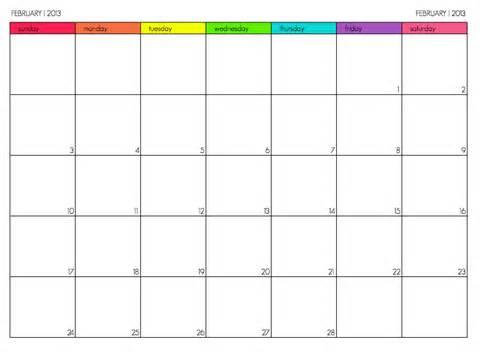 Calendar That Works Calendars That Work February 2013