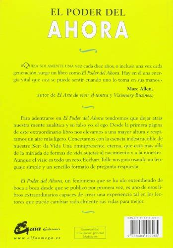 el poder del ahora 8484452069 libro el poder del ahora una gu 237 a para la iluminaci 243 n espiritual di eckhart tolle