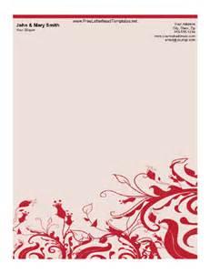Fancy Letterhead Templates Free by Wavy Floral Letterhead