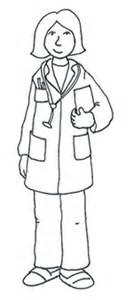 Medical Images Female Doctor Sketch sketch template