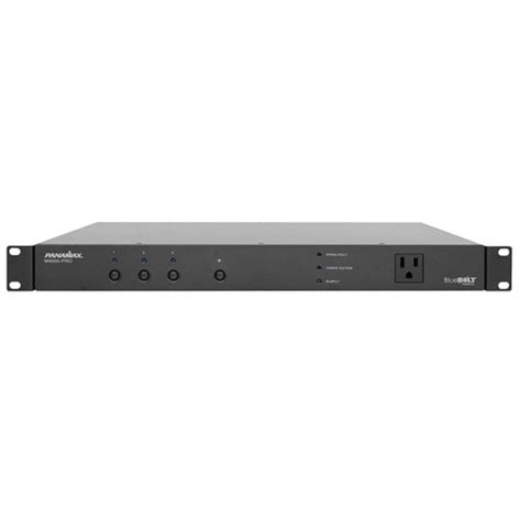 panamax m4000 pro rack mount power bank w surge protector