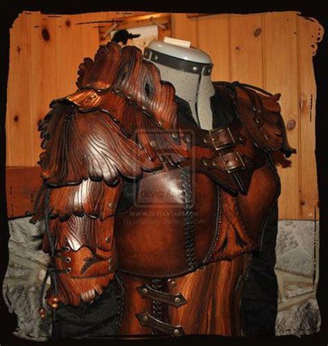 wood elf pattern larp costumewoman wood elf leather armor larp costume