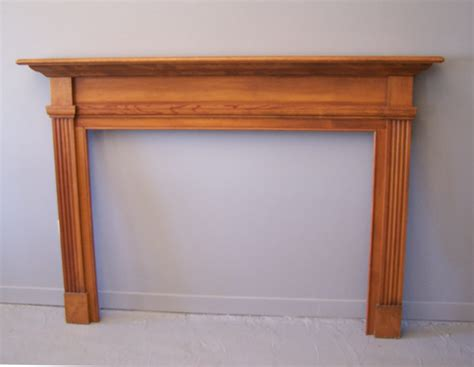vintage pine fireplace surround item 7000 for sale