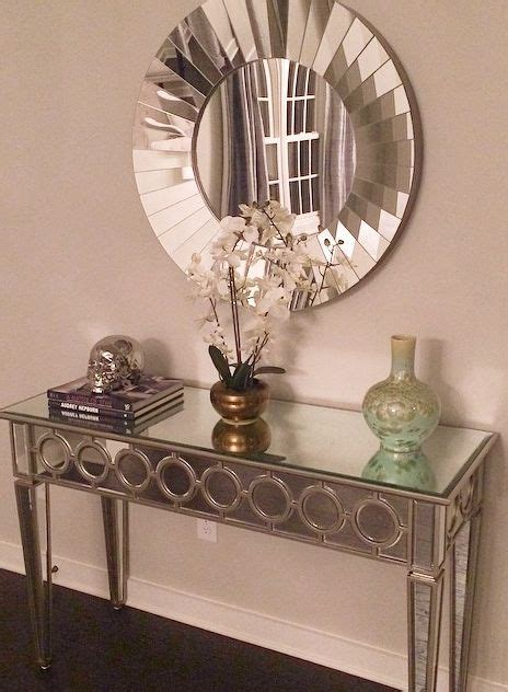 console table and mirror our mirrored console table makes this entryway by