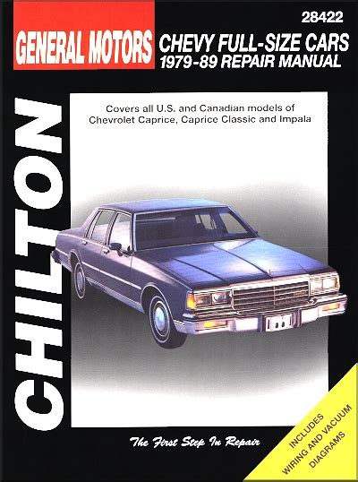 online auto repair manual 1993 chevrolet caprice classic electronic toll collection chevy caprice caprice classic impala repair manual 1979 1989