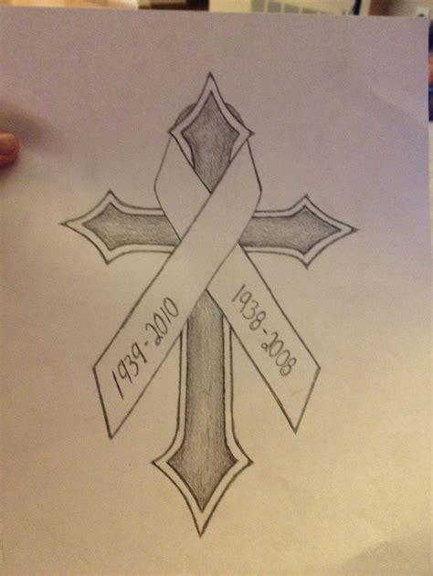 cross tattoo with ribbon 25 best ideas about lung cancer tattoos on