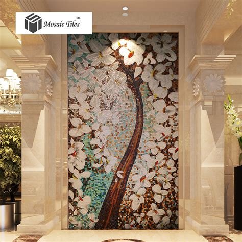 colorful wall decor tst mosaic murals fortune lucky tree colorful wall deco