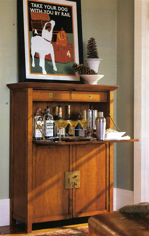 liquor cabinet   secretary desk bar furniture home