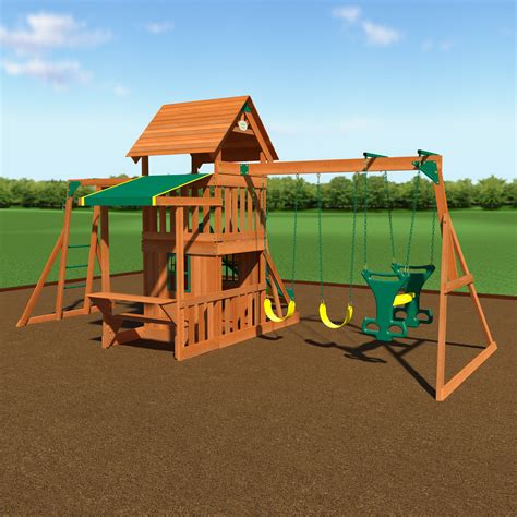 backyard swing set backyard discovery saratoga swing set reviews wayfair