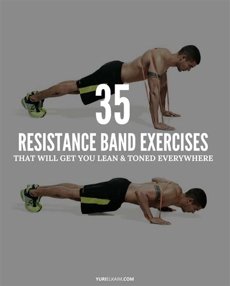 Resistance Band Bands Set Alat Fitness Portable Workout 35 best resistance loop band exercises and lower yuri elkaim
