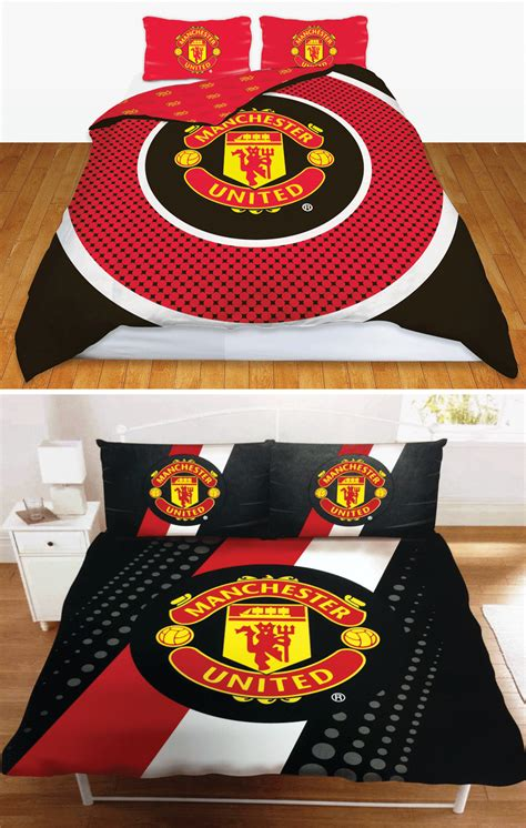 man utd fc manchester united football club double duvet