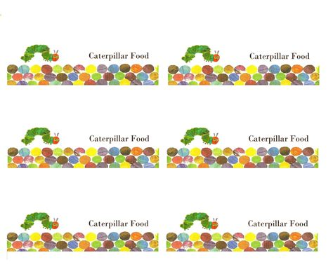 printable version of the very hungry caterpillar make it cozee very hungry caterpillar party favor printables