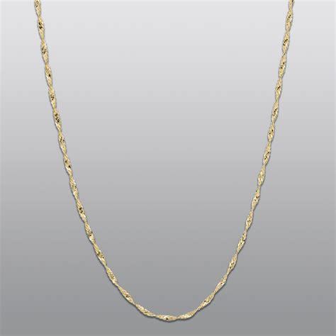 14 karat yellow gold solid herringbone necklace